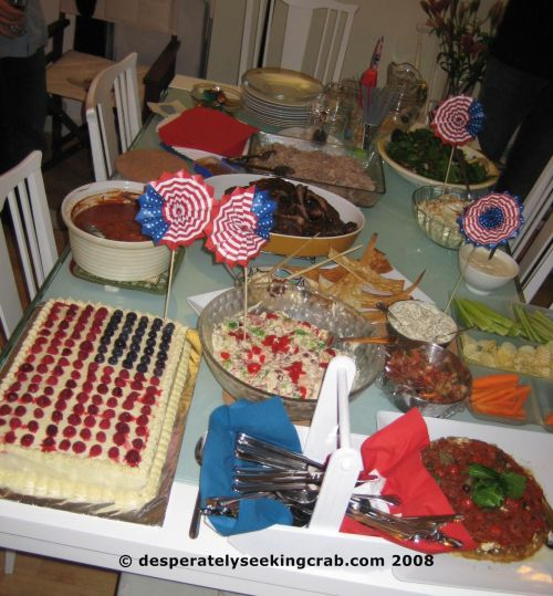 The Fabulous Array of Dishes for the Potluck!