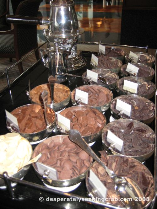 Hot chocolate trolley